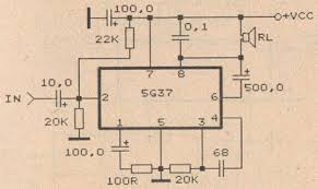 ic 5g37 power amplifier circuit diagram audio schematic ic 5g37 power amplifier circuit diagram