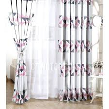 great pink and grey curtains gray curtain panels decorating collection in geometric pattern polyester insulated blackout