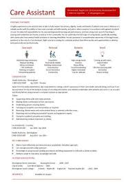 Cv Template For Care Assistant Resume For Aged Care Best Resume Collection
