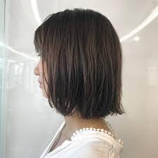 ミディアムショートの女性のヘアカタログ13選セミショートパーマ Cuty