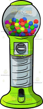 Ball Vending Machine Mesmerizing A Round Gum Ball Vending Machine Clipart By Vector Toons