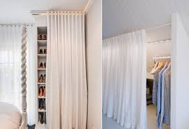 Cool amazing diy closet door curtains ideas Room Decor View In Gallery Homedit How To Reinvent Your Storage Areas With Closet Curtains