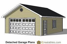 20x22 garage plans with single door 22x24 2 car