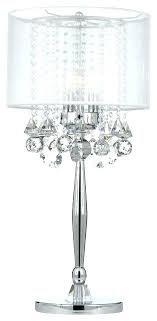 crystal droplet table lamp silver mist 3 light chrome crystal table lamp with white shade crystals