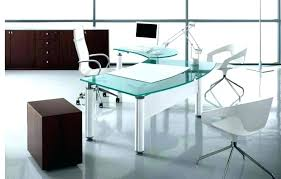glass desk for office. Large Glass Desk Office Table Design Size Of Modern Black For A