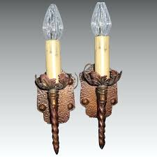 light fixture in spanish revival single candle sconces with finish 3 pair available translate into