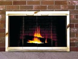 interior architecture magnificent brass fireplace doors in black amazing makeover update brass fireplace doors