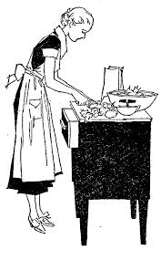 woman cooking clipart black and white.  White Best Clip Art Images On Pinterest Lady Retroclipart Com  Retro Clipart  Cooking To Woman Cooking Clipart Black And White E