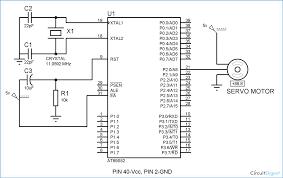 8051 servo motor interfacing circuit diagram