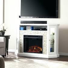 white electric fireplace tv stand real flame fresno in finish modern
