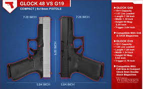 Glock Size Chart Glock 48 Vs 19 Wideners Shooting Hunting Gun Blog