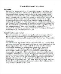 Internship Report Sample Simple Internship Report Template Doc Gocreatorco