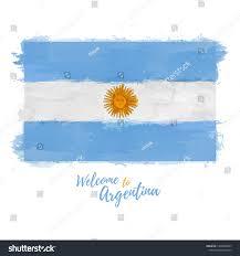 Argentina Banner Design Welcome Argentina Banner National Flag Argentine Stock