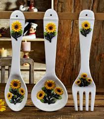 Kitchen Decorations For Walls Wall Decor Set Sunflower Intended Inspiration