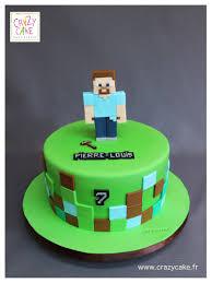 Creeper Cake Design Minecraft By Crazy Cake Minecraft Birthday Cake Minecraft
