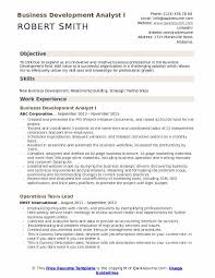 Business Resume Objective Business Development Analyst Resume Samples Qwikresume
