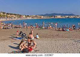 Francia, Var, Bandol, Six Fours Les Plages, Melva beach Fotografía ...