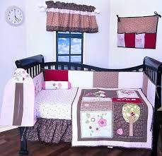 9 pc baby girl crib bedding set flower