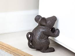 Amazon.com: Cast Iron Mouse Door Stop - Decorative Rustic Door Stop - Stop  your bedroom, bath and exeterior doors in style - Vintage Brown Color: Home  & ...