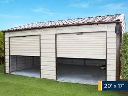 20ft x 17ft double garage