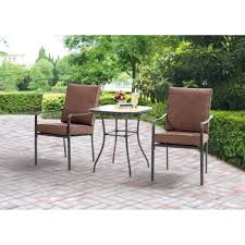 table and chair patio set best of mainstays crossman 3 piece outdoor bistro set ii with