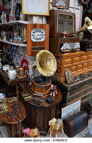 vintage objects and furniture for sale at street market antiques shop erm9ed