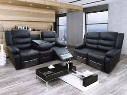 luxury leather recliner chairs. image is loading new-valencia-black-bonded-luxury-leather-recliner-sofa- luxury leather recliner chairs