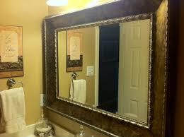 Modern Nice Framed Bathroom Mirrors Custom Bathroom Mirror Frames