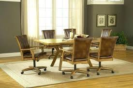 caster dining chair chairs for kitchen swivel tilt