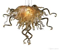 Image Contemporary Handmade Blown Glass Gold Pendant Light Murano Glass Light Fixtures Dining Room Lights Led Chandelier For New House Decoration Commercial Pendant Lighting Dhgatecom Handmade Blown Glass Gold Pendant Light Murano Glass Light Fixtures
