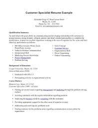 Cover Letter Summary Of Skills Resume Sample Summary Of