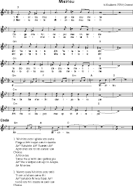 Abc Music Notation Words