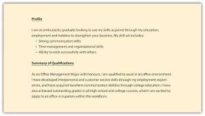 good profile resume statements profile resume sample