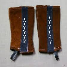 Chaps Brown Leather Half Chaps