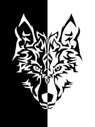 cool black and white designs. Interesting White Black And White Tribal Wolf In Cool Designs N