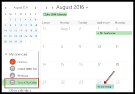 Online Office Calendar Zoho Crm For Office 365 Online Help Zoho Crm