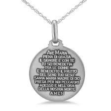 picture of fioino della robbia madonna child sterling silver 21mm medal
