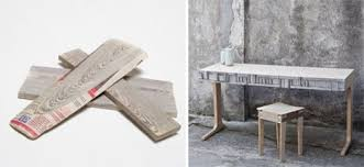 recycled paper furniture. newspapers recycled into paper timber u0026 furniture by mieke meijer vij5 p
