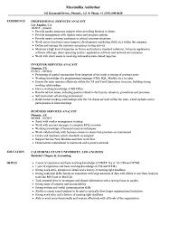 Services Analyst Resume Samples Velvet Jobs