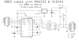similiar obd2 connector diagram keywords nformation about cable connector or adapter obd2 to rs232