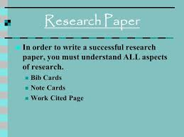 research paper in order to write a successful research paper you  1 research paper in order