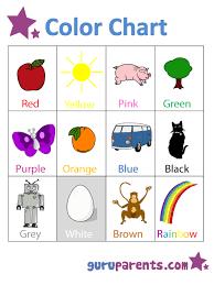 Preschool Color Chart Preschool Charts Preschool Colors