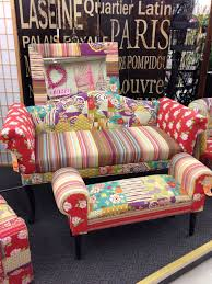hobby lobby in santa fe new mexico colorful patchwork sofa and bench