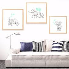 >baby mummy elephant nursery canvas art print painting poster wall  baby mummy elephant nursery canvas art print painting poster wall pictures for room home decorative bedroom