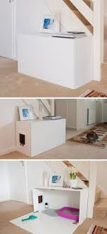 cat litter box furniture diy. 10 Ideas For Hiding Your Cats Litter Box // Turn An Ikea Cabinet Into A Contemporary Place The Box. Cat Furniture Diy