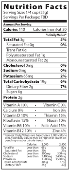 nutrition info for honey bunches of oats honey roasted granola