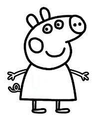 Tante idee e suggerimenti per il divertimento educativo dei bambini: La Mitica Peppa Pig 3 Peppa Pig Pagine Da Colorare Per Bambini Maiale