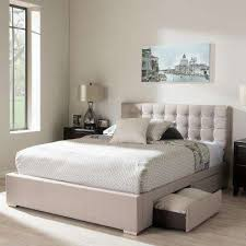 rene contemporary beige fabric upholstered king size bed beige bedroom furniture