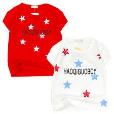 Áo thun thời trang in sao tay ngắn cho bé trai 0.5-2 tuổi từ 6 đến 12 kg  06155-06156 - Áo bé trai Hãng OEM