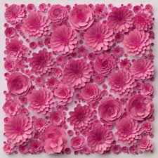 3d ilration pink paper flowers wallpaper fl background decorative wall valentine s day
